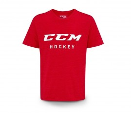 Tričko CCM True2Hockey Triblend Logo Red