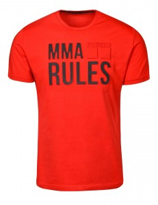 Tričko Doule Red MMA Rules Red