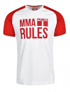 Tričko Double Red MMA Rules Red/White