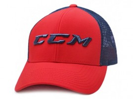 Kšiltovka CCM Mesh Back Trucker Hugh Risk Red
