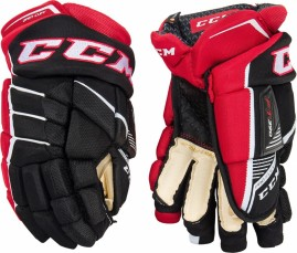 Hokejové Rukavice CCM JetSpeed 390 Black/Red/White Junior