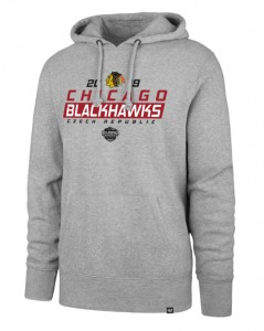 Mikina Chicago Blackhawks '47 Headline Hood GS19 šedá