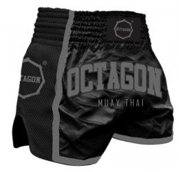 Kraťasy Muay Thai Octagon Black/Grey